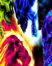 Free Neon Skulls.jpg phone wallpaper by contractplumber