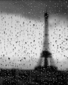 Rainy Paris Window wallpaper 1