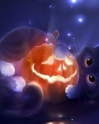 Halloween Kitten wallpaper 1