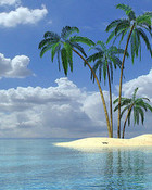 Tropical Island wallpaper 1