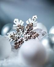 Free Christmas Snowflake phone wallpaper by missjas