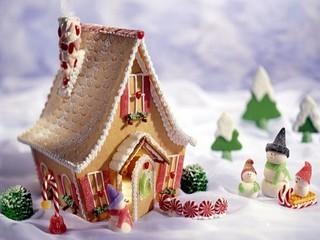 Free Gingerbread Christmas phone wallpaper by missjas
