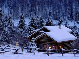 Free Winter Cottage phone wallpaper by missjas