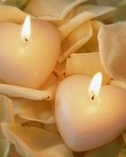 Heart Shaped Candles wallpaper 1