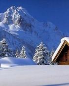 Winter Lodge wallpaper 1