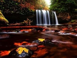 Free Autumn Waterfall HD phone wallpaper by missjas