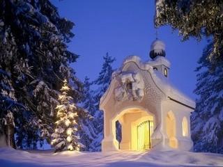 Free Winter Church phone wallpaper by missjas