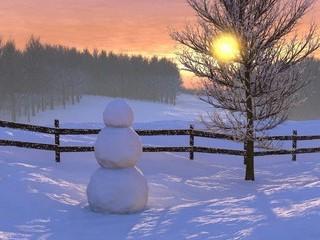 Free Snowman Simplicity phone wallpaper by missjas
