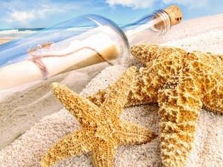 Free Beached Bottle phone wallpaper by missjas