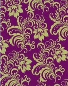 Purple/ yellow vintage pattern