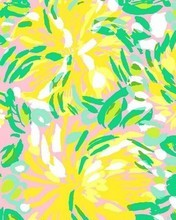 Free Lilly Pulitzer yellow flowers phone wallpaper by loperkatie