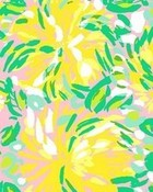 Lilly Pulitzer yellow flowers