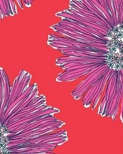 Free Lilly Pultizer, Purple floral, red background phone wallpaper by loperkatie