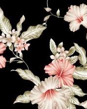 Free Floral Black Vintage phone wallpaper by loperkatie