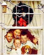 Christmas Morning Surprise Norman Rockwell wallpaper 1
