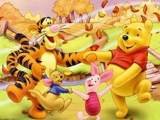 Free Pooh and Friends in Autumn phone wallpaper by missjas