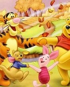 Pooh and Friends in Autumn