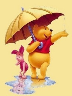 Free Winnie The Pooh and The Rainy Day phone wallpaper by missjas