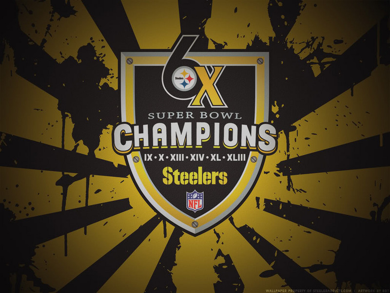 Free Pittsburgh Steelers Six-time Champions (Splatter) phone wallpaper by chucksta