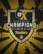 Pittsburgh Steelers Six-time Champions (Splatter) wallpaper 1
