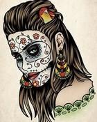 day-of-the-dead-girl-tattoo.jpg wallpaper 1