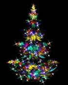 Colorful Christmas Tree wallpaper 1