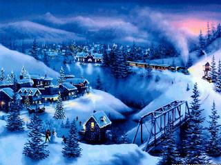 Free Blue Christmas phone wallpaper by missjas