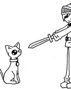 Dwight with a Sword... and Cat