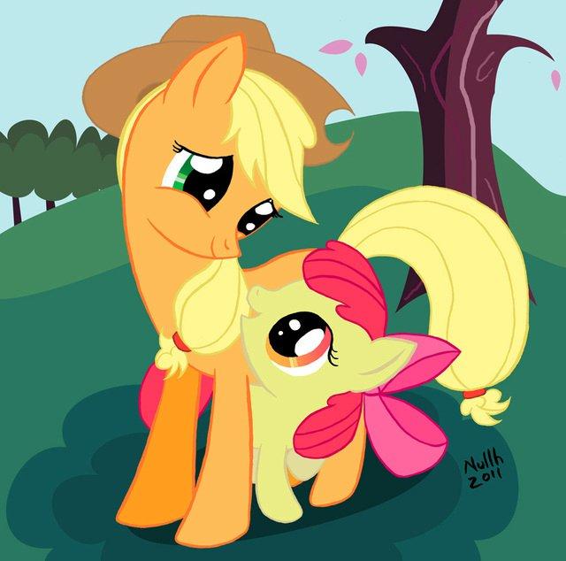 Free -Mlp-Wallpaper-Apple-Jack-and-Apple-Bloom-my-little-pony-friendship-is-magic-27947180-640-634.jpeg phone wallpaper by david316