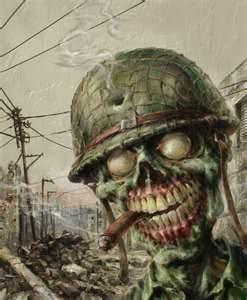 Free Zombie soldier phone wallpaper by darkseeker12