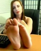 Amber lily's sexy feet tastes  good