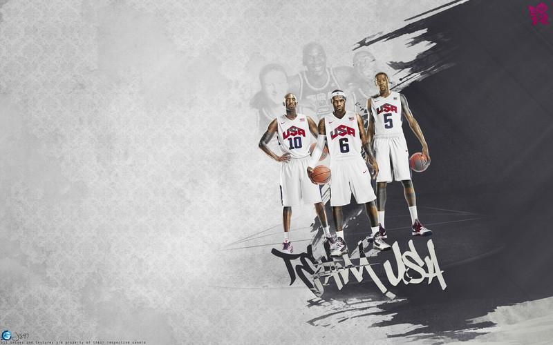 Free Kobe, LeBron, Durant 2012 USA Dream Team.jpg phone wallpaper by donovanclyde