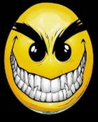 Evil Smiley! (black back) (176x220).jpg wallpaper 1