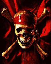 Free Jack Sparrows Skull & Crossbones #01! (176x220).jpg phone wallpaper by redding666