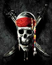 Free Jack Sparrows Skull & Crossbones #02! (176x220).jpg phone wallpaper by redding666