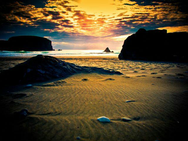 Free beach sunset phone wallpaper by bwigley84