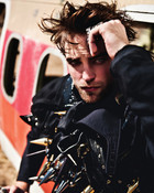 Rob in leather wallpaper 1