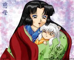 Free Izayoi Holding Baby Inuyasha phone wallpaper by foreverdrarry