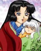 Izayoi Holding Baby Inuyasha