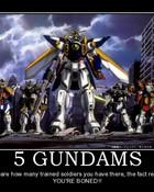 5 Gundams