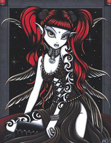 Free Goth fairy.jpg phone wallpaper by mybabymomma