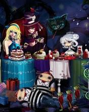 Free Alice-In-Wonderland-Tea-Party-1050x1680.jpg phone wallpaper by bloody_art