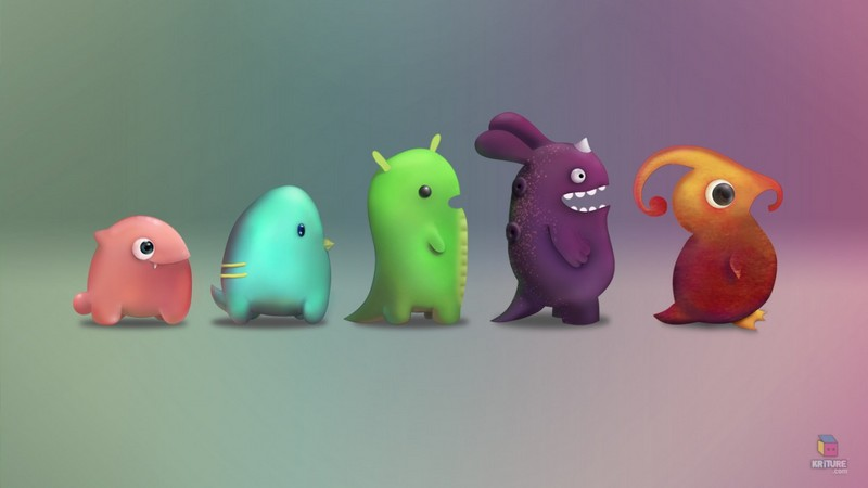 Free cartoon monsters.jpg phone wallpaper by la_fufi