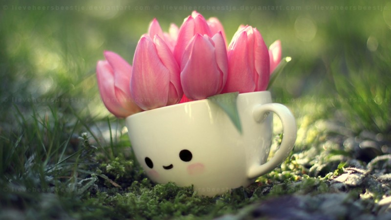 Free tulip girl.jpg phone wallpaper by la_fufi