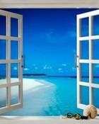 Window to Paradise wallpaper 1