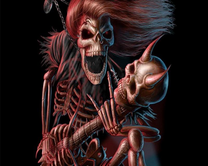 Free skull-rock-player,1280x1024,50680.jpg phone wallpaper by starrr72