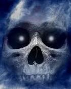 fading blue skull