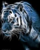 glowing white tiger