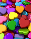 Free Colorful Hearts phone wallpaper by zestyred