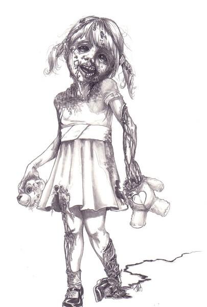 Free zombie-girl.jpg phone wallpaper by breetears